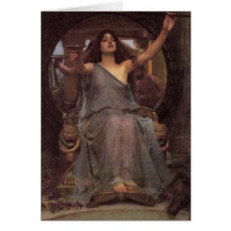 Cartão Circe que oferece o copo a Ulysses