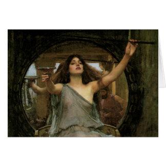 Cartão Circe que oferece o copo a Ulysses pelo Waterhouse