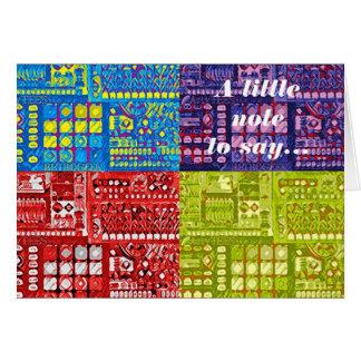 Cartão Circuitos Popart - uma nota pequena a dizer…