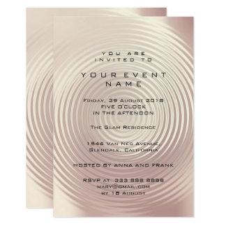 Cartão Círculo cor-de-rosa metálico do rosa abstrato do