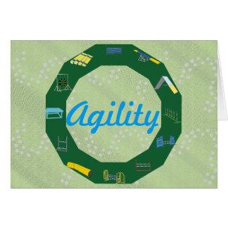 Cartão Círculo da agilidade
