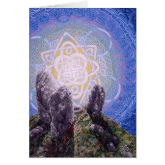 Cartão Círculo das pedras, por Darlene P. Coltrain