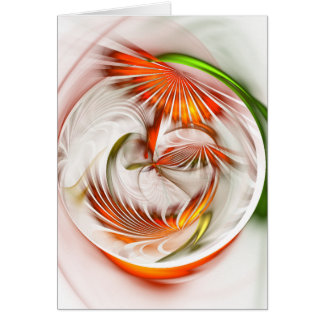 Cartão Círculo de flor