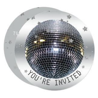 Cartão Círculo do dance party do disco da festa de
