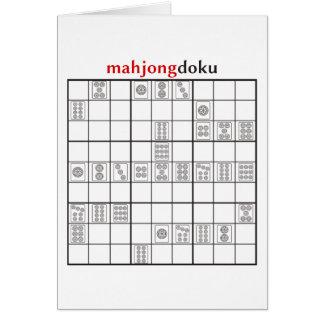 Cartão círculo do mahjongdoku