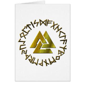 Cartão Círculo do Rune com Volknot