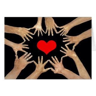 Cartão Círculo dos amigos com mensagem inspirada