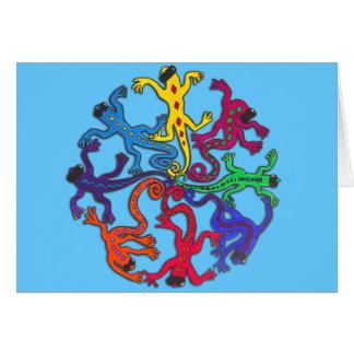 Cartão Círculo dos lagartos