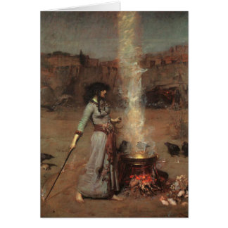 Cartão Círculo mágico, J.W. Waterhouse, 1886