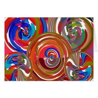 Cartão Círculos da limpeza da aura - mandala 7 da