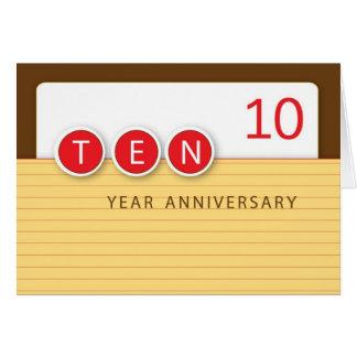 Cartão Círculos do aniversário do empregado do ano