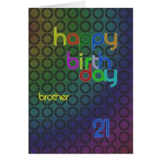 Cartão Círculos do aniversário para o irmão envelhecido