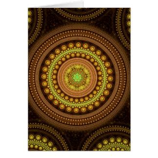 Cartão Círculos do Fractal