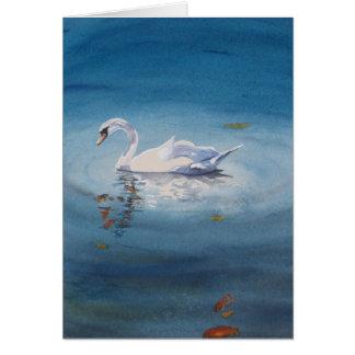 Cartão Cisne branca