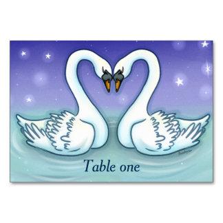 Cartão Cisnes no casamento Customisable do número da mesa