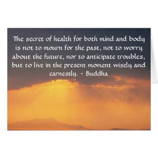 Cartão Citações budistas bonitas com foto inspirada