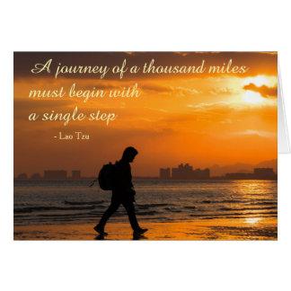 Cartão Citações clássicas da viagem de Tzu do Lao