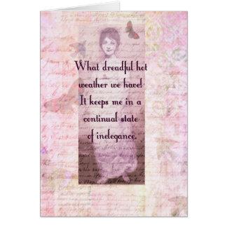 Cartão Citações cómicos por Jane Austen
