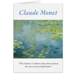 Cartão Citações criativas do artista de Monet com