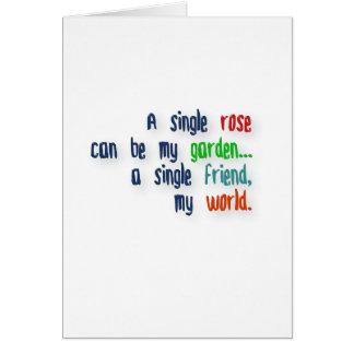 Cartão Citações da amizade - escolha cor-de-rosa pode ser