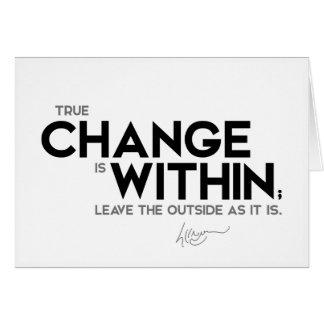 Cartão CITAÇÕES: Dalai Lama - a mudança verdadeira está