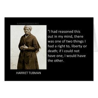Cartão Citações de Harriet Tubman