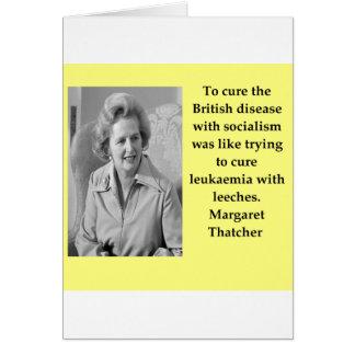 Cartão Citações de Margaret Thatcher