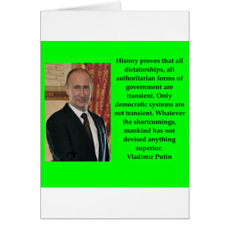 Cartão citações de putin