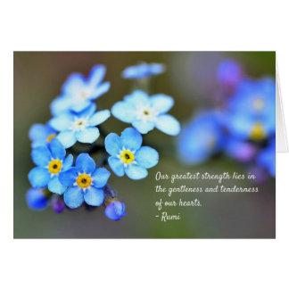 Cartão Citações de Rumi sobre a vida