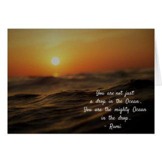 Cartão Citações de Rumi sobre a vida. Você não é apenas