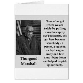 Cartão Citações de Thurgood Marshall