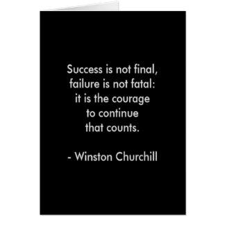 Cartão Citações de Winston Churchill; Sucesso