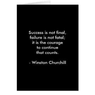 Cartão Citações de Winston Churchill; Sucesso 2,0