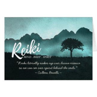 Cartão Citações do mestre de Reiki e do instrutor da