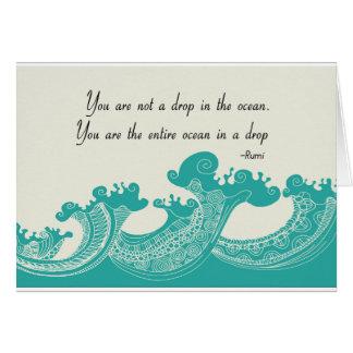 Cartão Citações do oceano de Rumi