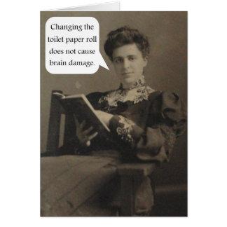Cartão Citações do papel higiénico