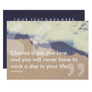Cartão citações do sucesso de confucius