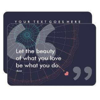 Cartão citações do sucesso do rumi