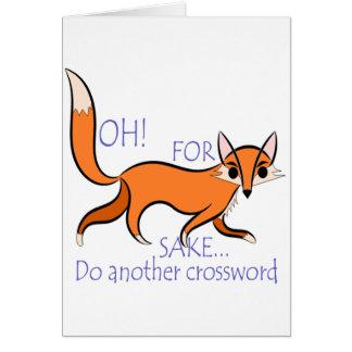 Cartão Citações engraçadas bonitos do Fox para motivar