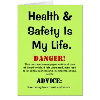 Cartão Citações engraçadas da saúde e da segurança &