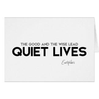 Cartão CITAÇÕES: Euripides: Vidas quietas