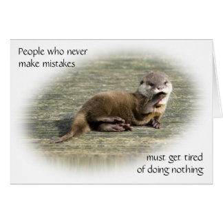 Cartão - citações famosas da lontra bonito do bebê