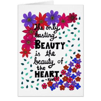 Cartão Citações inspiradas florais lunáticas bonitos da