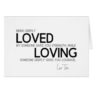 Cartão CITAÇÕES: Lao Tzu: Amado profundamente