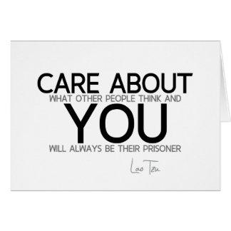 Cartão CITAÇÕES: Lao Tzu: Cuidado sobre você
