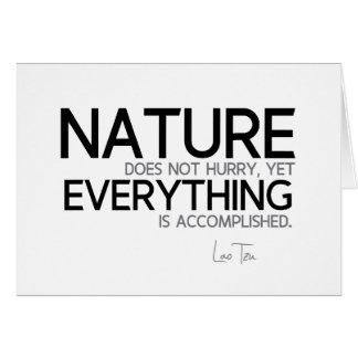 Cartão CITAÇÕES: Lao Tzu: Natureza, realizada
