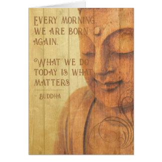 Cartão Citações positivas do Mindfulness do budismo da