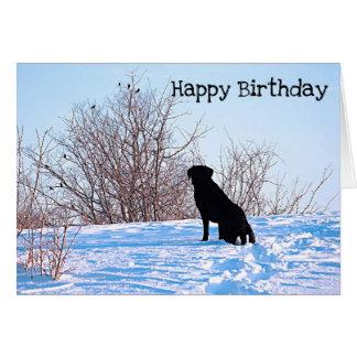 Cartão Citações pretas de Labrador - o que se encontra
