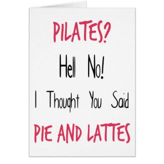 Cartão Citações, preto e rosa engraçados de Pilates