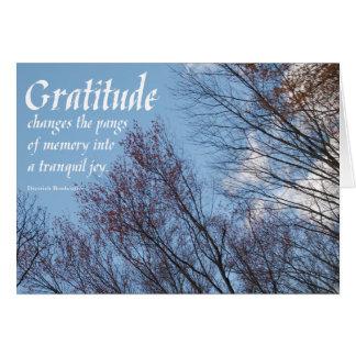 Cartão Citações sobercards.com de Bonhoeffer da gratitude